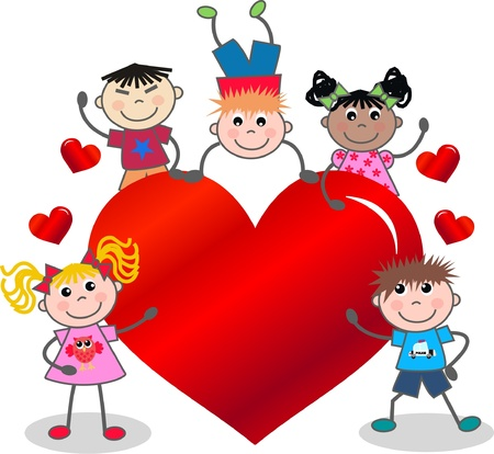 cute cartoons: valentines day or birthday Illustration