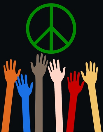 the peace: paz Vectores