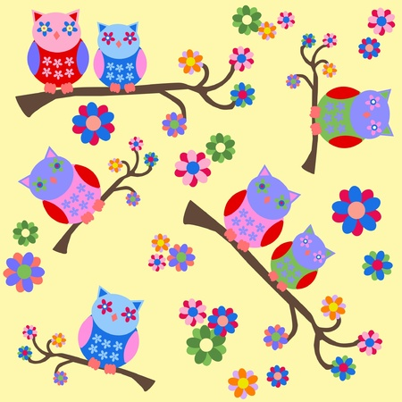 owl background Stock Vector - 12025431