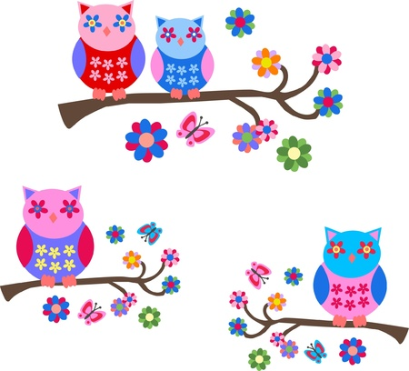 royalty free illustrations: owls Illustration