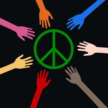 revolucionario: paz Vectores