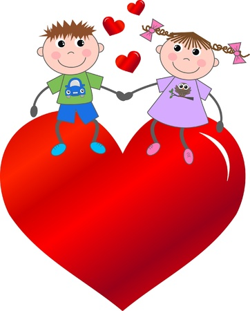 friendship day: valentines day Illustration