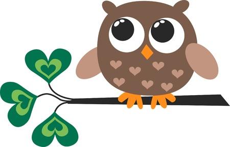 birdie: un simpatico gufo Little Brown Vettoriali