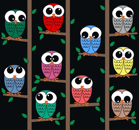 royalty free illustrations: owl background