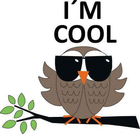 cool owl Vector
