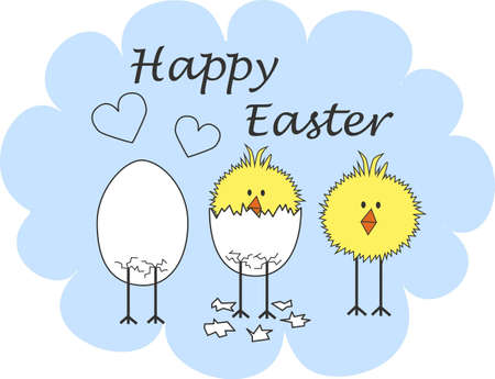 free plate: happy easter Illustration
