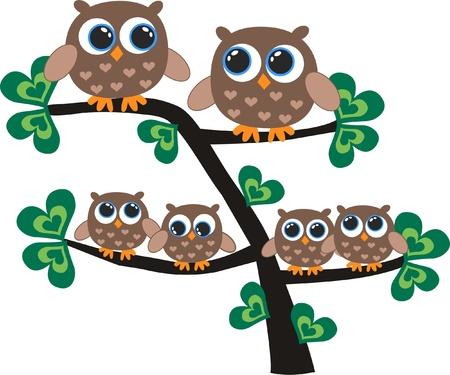 owls Stock Vector - 12492142