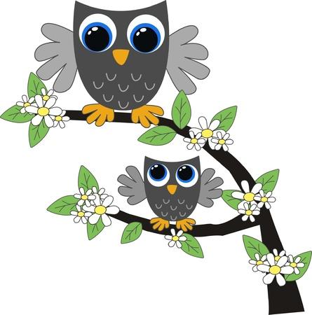 owls Stock Vector - 12492123