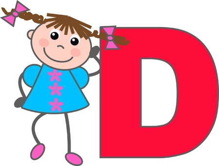 alphabet letter D Illustration