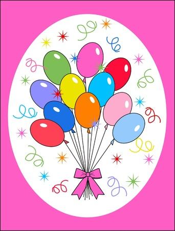 childrens birthday party: celebration or invitation Illustration
