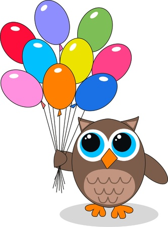 owl symbol: celebration or invitation Illustration