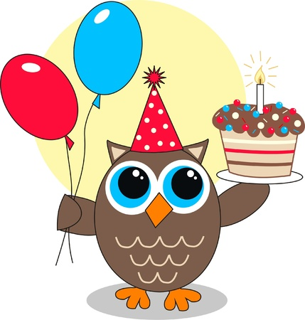 owl symbol: happy birthday