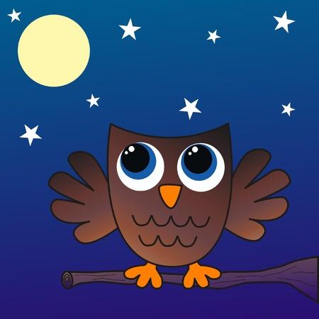 a brown owl Vector