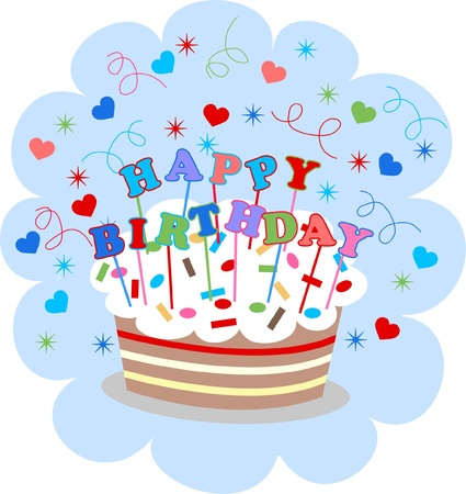 happy birthday Stock Vector - 12782691
