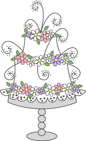 stock illustrations: celebration cake
