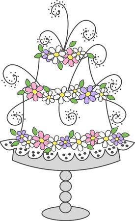 torta panna: celebrazione torta Vettoriali