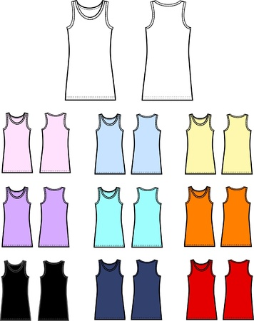 top tank linen garment Vector