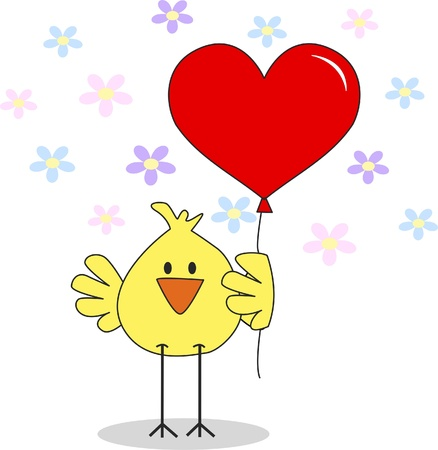 heart drawing: happy easter Illustration