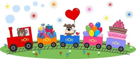 caricaturas de animales: celebraci�n o invitaci�n Vectores