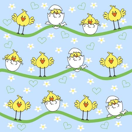 easter chick: happy easter Illustration