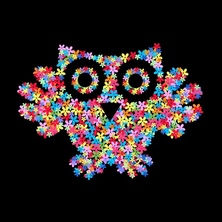 stock image: flower owl