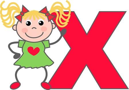 educacion gratis: alfabeto letra X