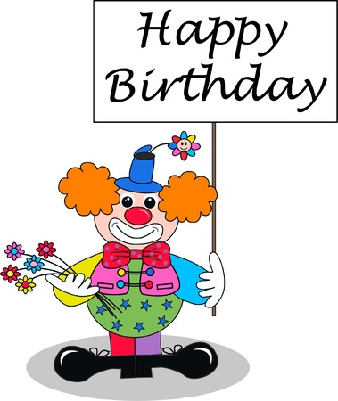 clown shoes: happy birthday