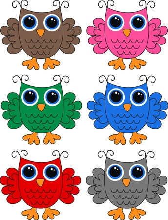 owls Stock Vector - 13310549