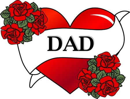 stock clip art: dad father tattoo fathers day Illustration