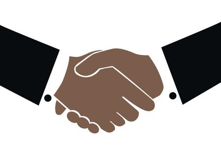 dandose la mano: apret�n de manos