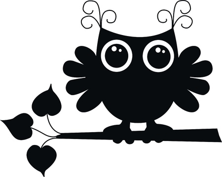 a black owl Vector