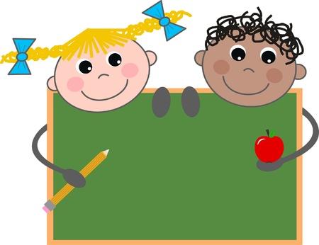cartoons designs: bambini della scuola