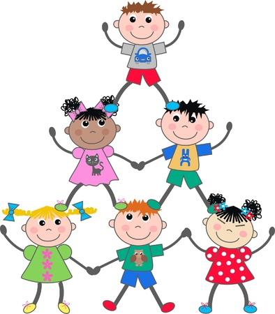 bimbi che giocano: misti bambini etnici