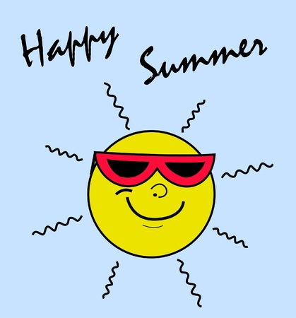 stock clip art icon: happy summer