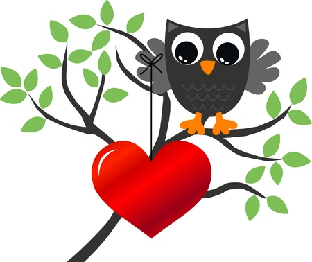 celebration love owls Stock Vector - 13625179