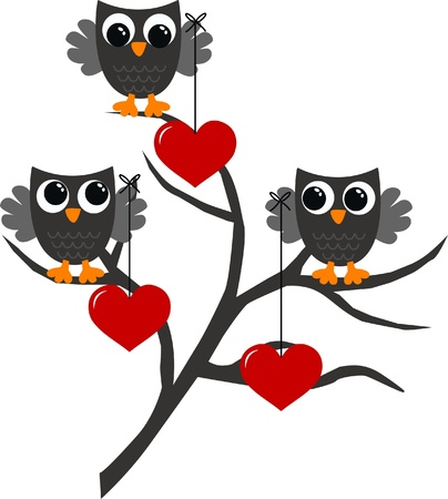 celebration love owls Vector