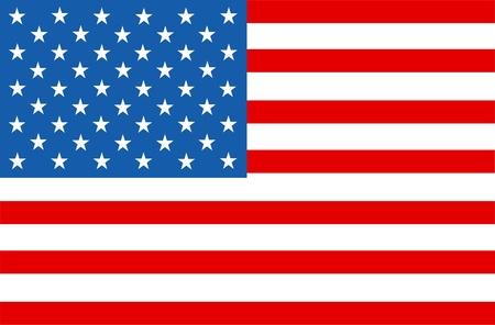 continente americano: estrellas la bandera americana y rayas Vectores
