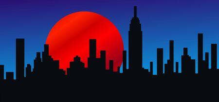 city skyline new york america
