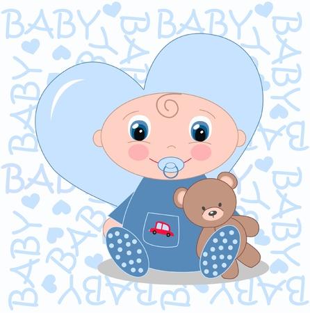 Bambino appena nato annuncio Archivio Fotografico - 13734026