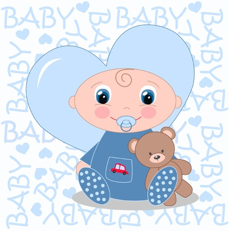 newborn baby announcement Vector