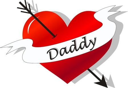 fathers day celebration tattoo Vector