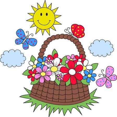 picknic: summer sun flowers butterflies