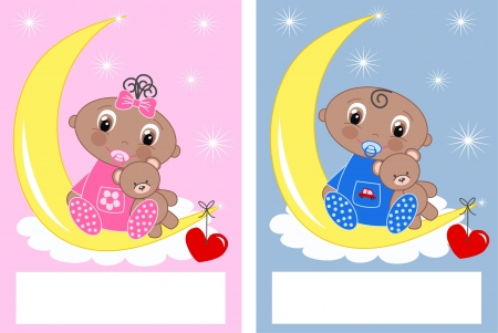 baby shower newborn babies Stock Vector - 13889472
