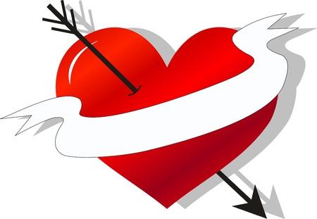 love tattoo symbol banner Vector