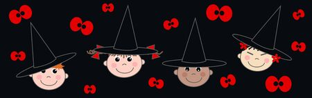 halloween header Vector