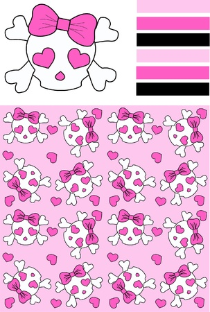 three different patterns Vector