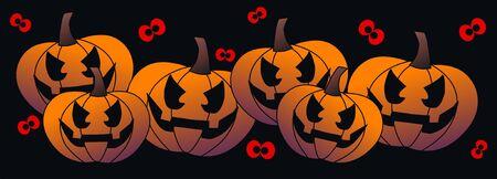 halloween header for website Stock Vector - 14422718
