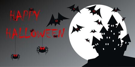 header image: happy halloween header card invitation Illustration