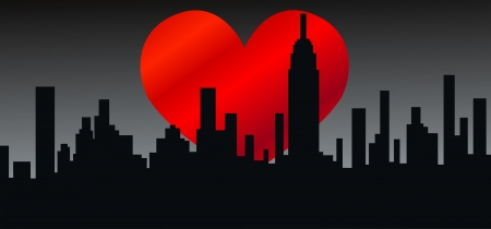 love picture: city skyline new york america  Illustration