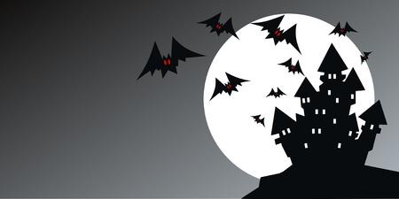 halloween header or invitation